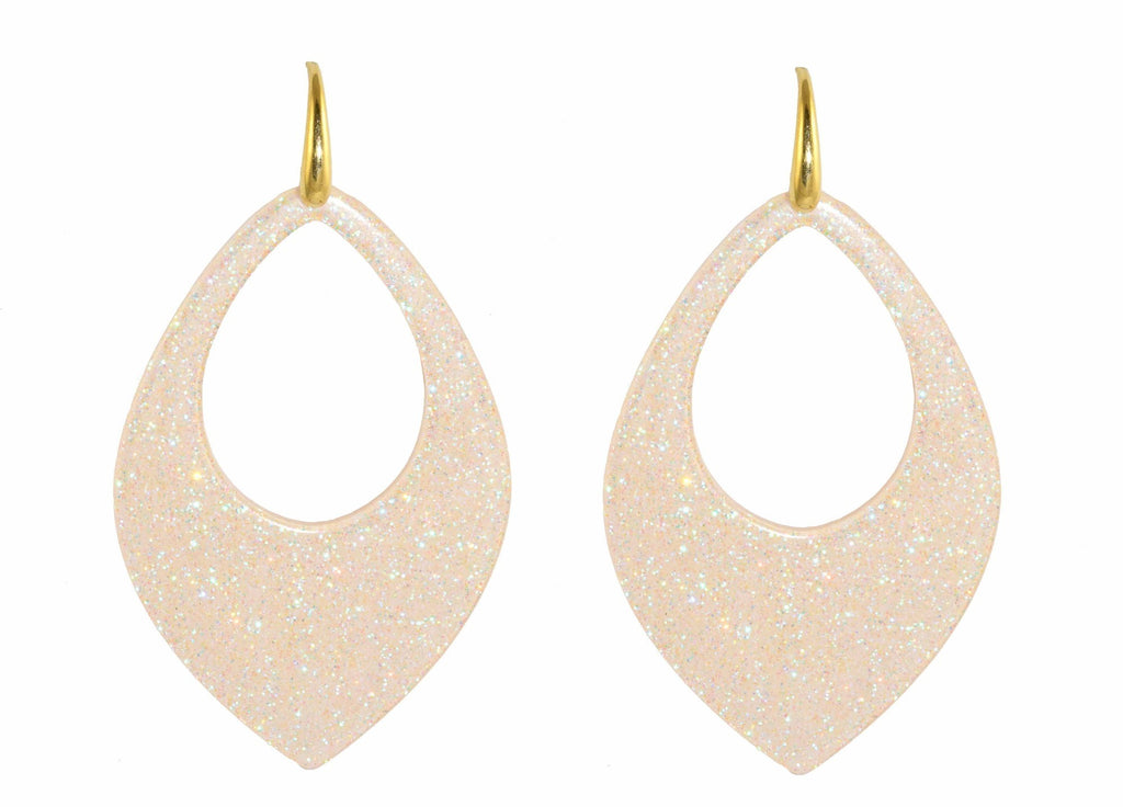Ivory moondust drops | Resin Earrings