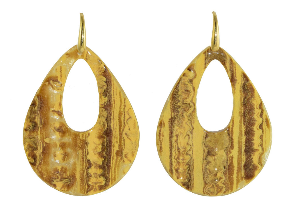 Ivory tree bark drops | Resin Earrings
