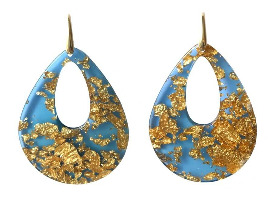 Louis XIV Blue | Resin Earrings