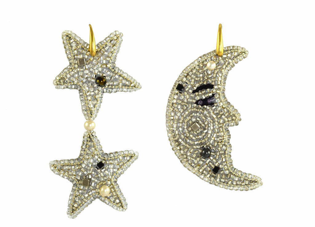 Moon & Stars | PatchArt Earrings