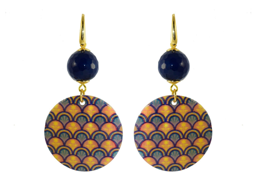 MOP Pattern Circles | Shell Earrings