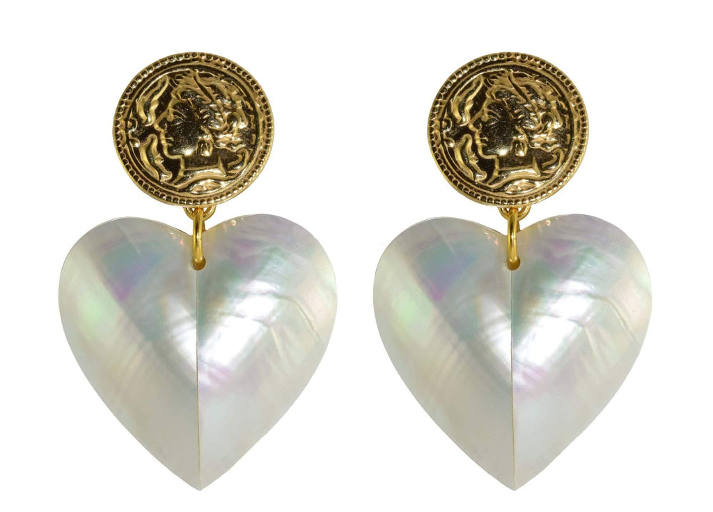 MOP Hearts | Shell Earrings