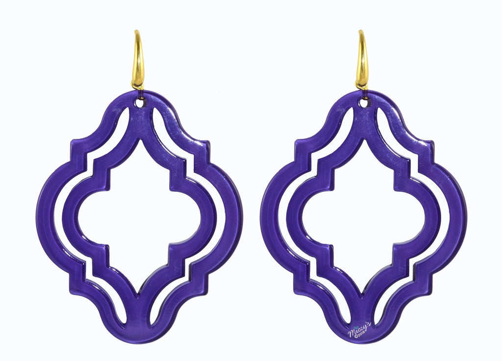 Muscat Violet | Resin Earrings