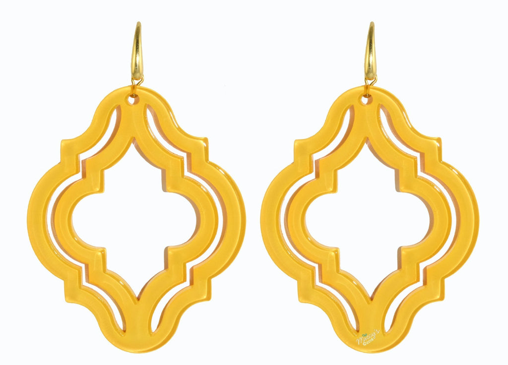 Muscat Yellow | Resin Earrings
