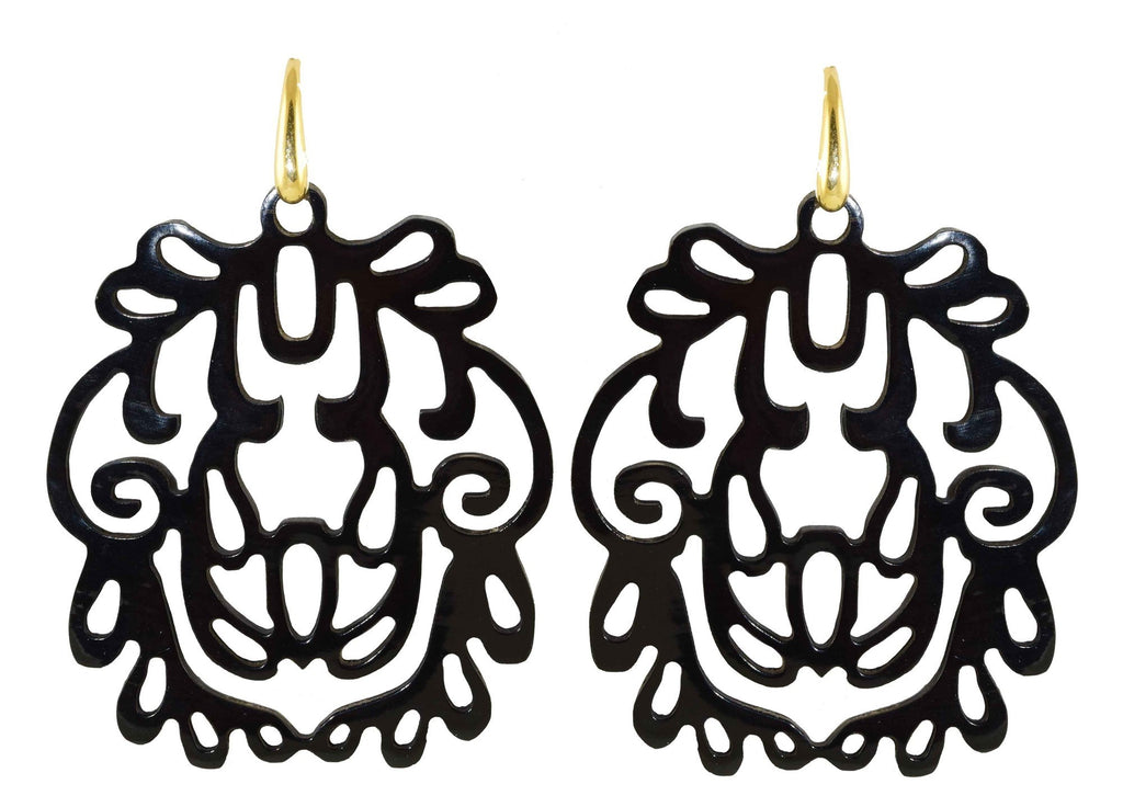 Black Horn Namur | Horn Earrings