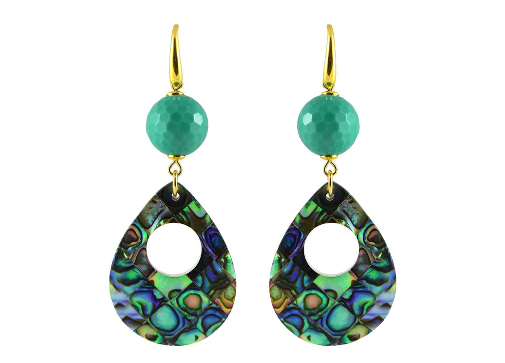 Paua teardrops with turquoise