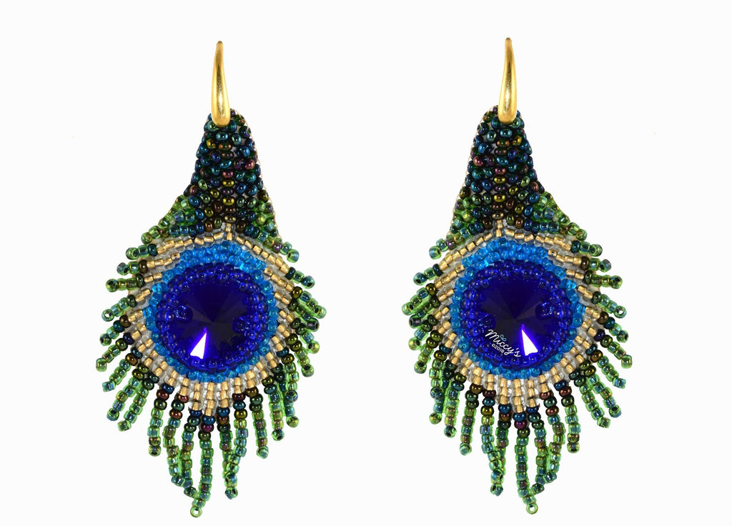 Peacock feathers | PatchArt Earrings