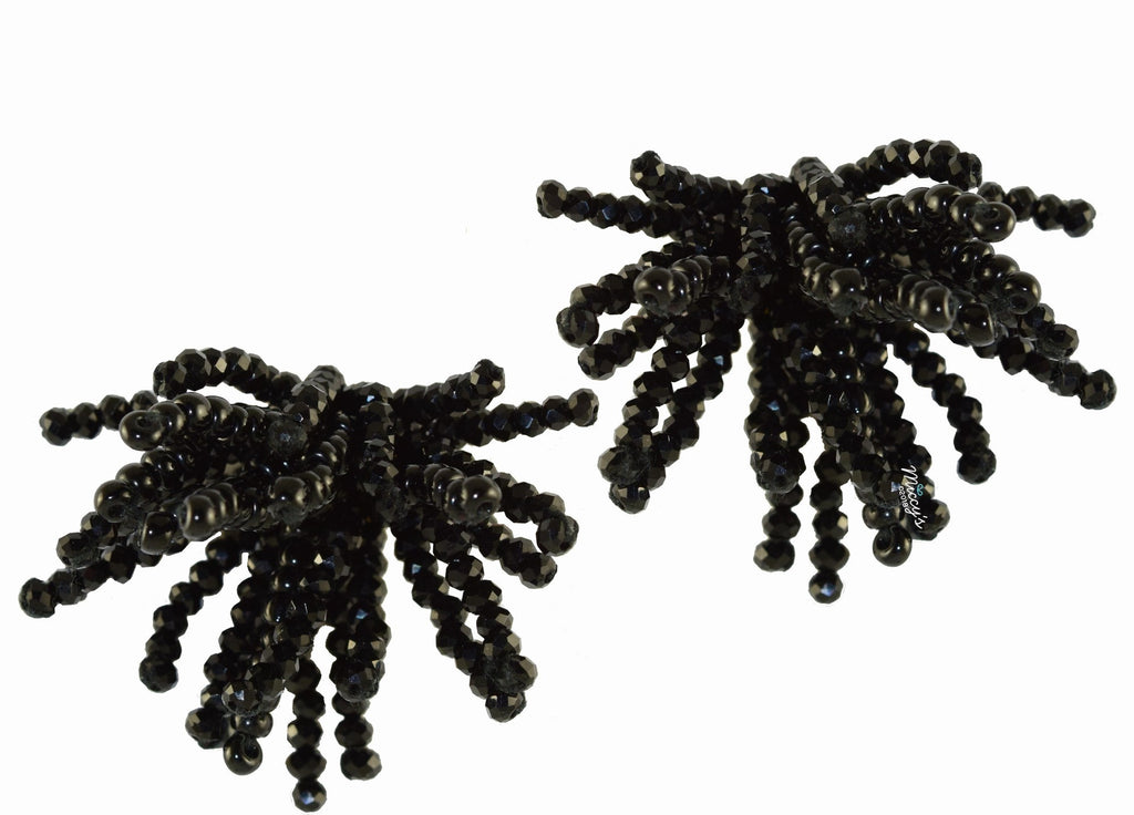 Ragno Black | Crystals Earrings