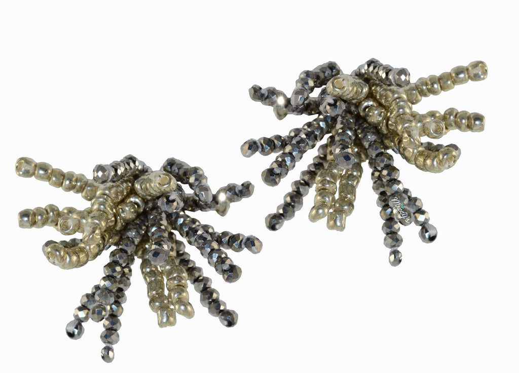 Ragno Silver | Crystals Earrings