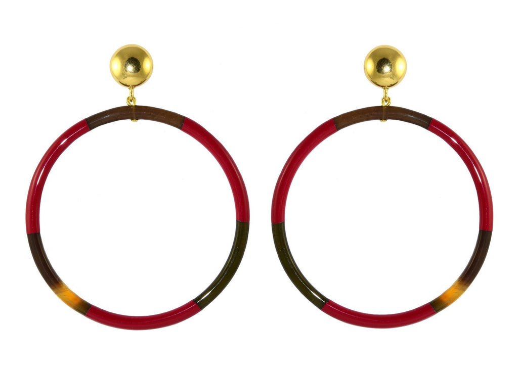 Horn Red Hoops