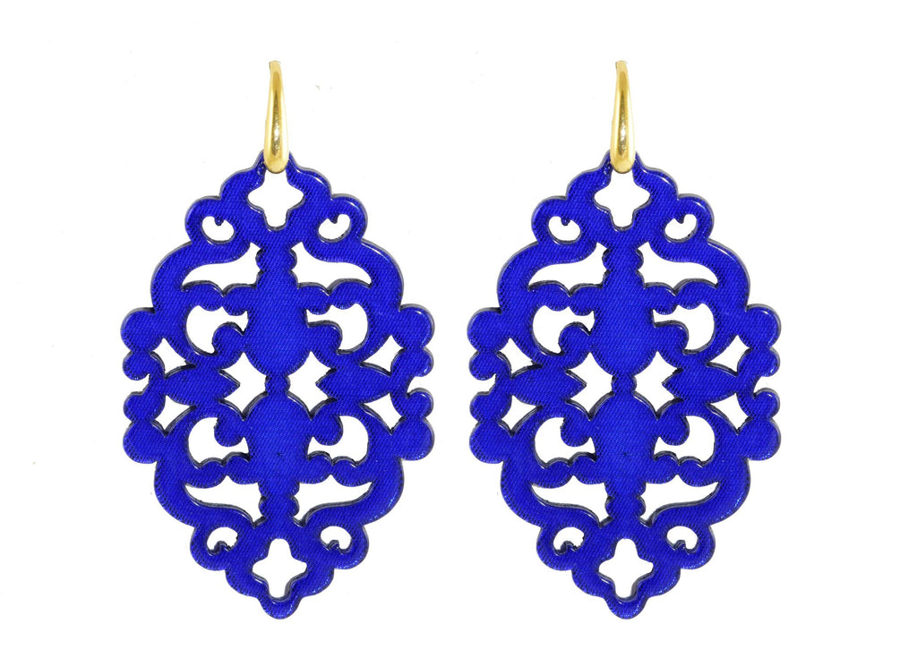 Azulejo Royal Blue Bold | Resin Earrings