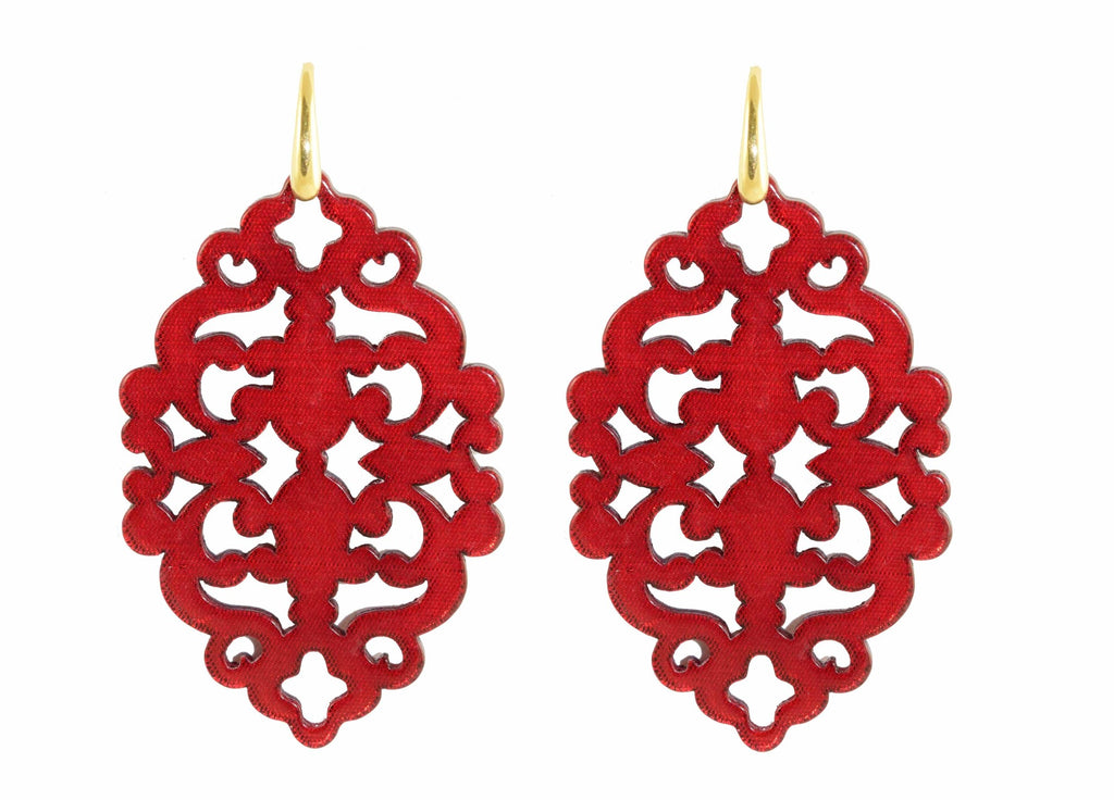 Azulejo Ruby Red bold | Resin Earrings