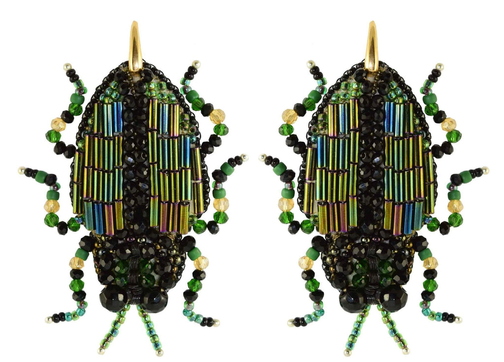 Scarab | PatchArt Earrings