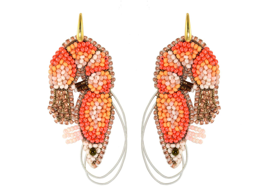 Shrimps | PatchArt Earrings