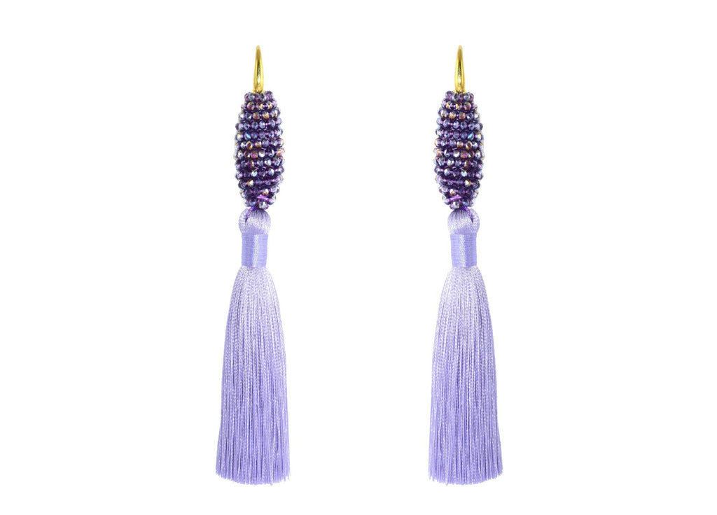 Raso Violet | Crystals Earrings
