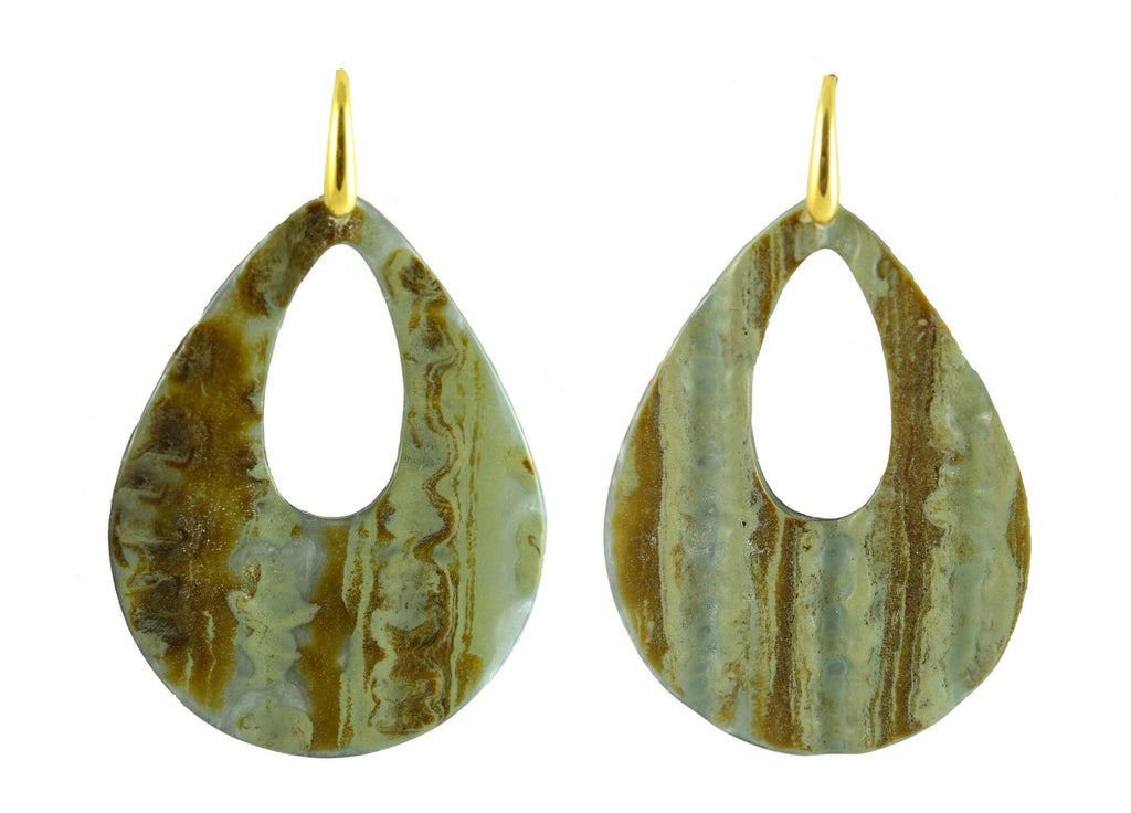 Grey tree bark drops | Resin Earrings
