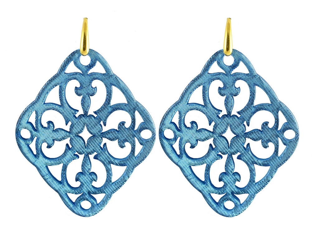 Azulejo Flying Blue | Resin Earrings
