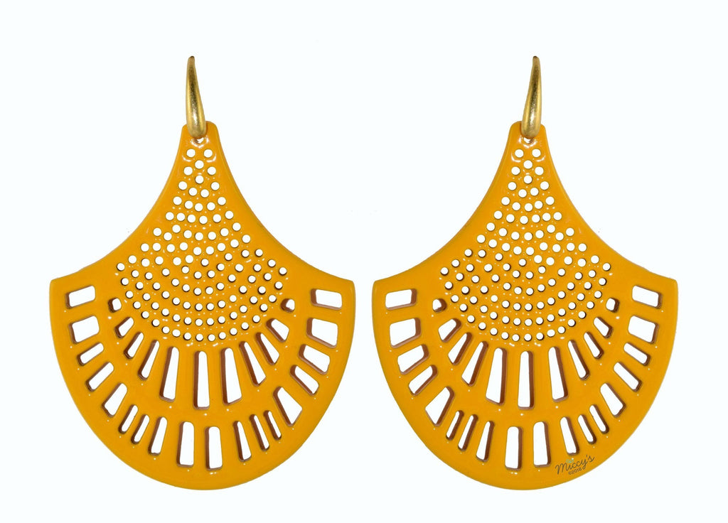 Yellow Horn Corn | Horn Earrings