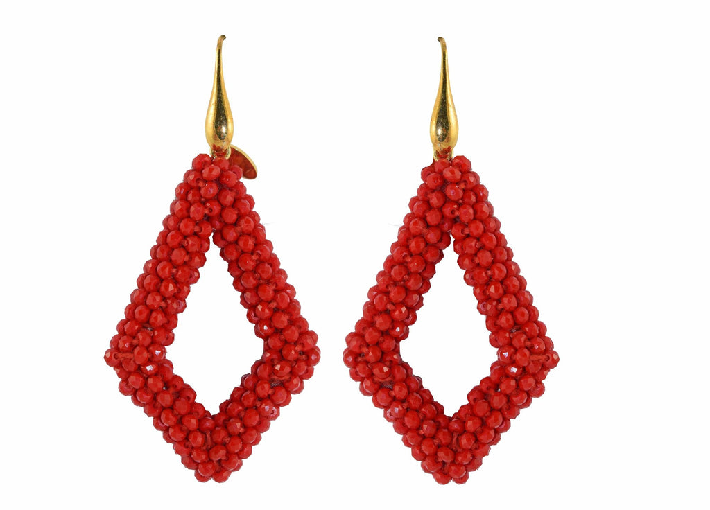 Red new style Crystal drops