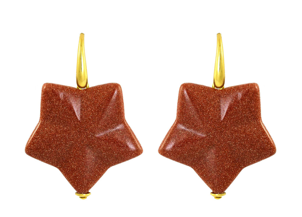 Sun Stone Stars | Crystals Earrings