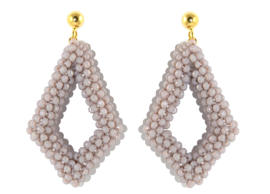 Taupe new style Crystals | Crystals Earrings