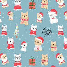 Load image into Gallery viewer, Holiday Frenchie Throw Blanket