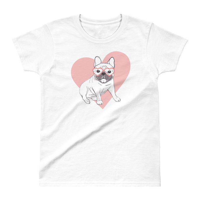Frenchie Heart Women's Shirt