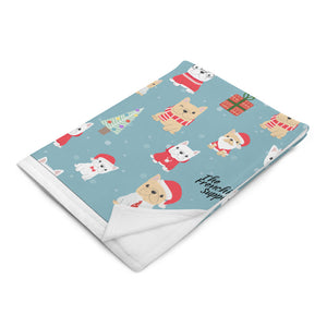 Holiday Frenchie Throw Blanket