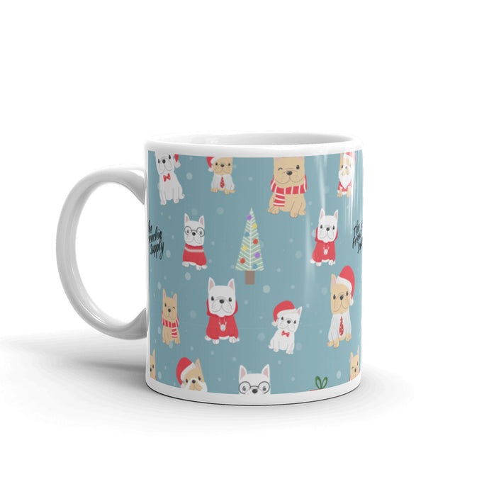 Holiday Frenchie Coffee and Tea Mug