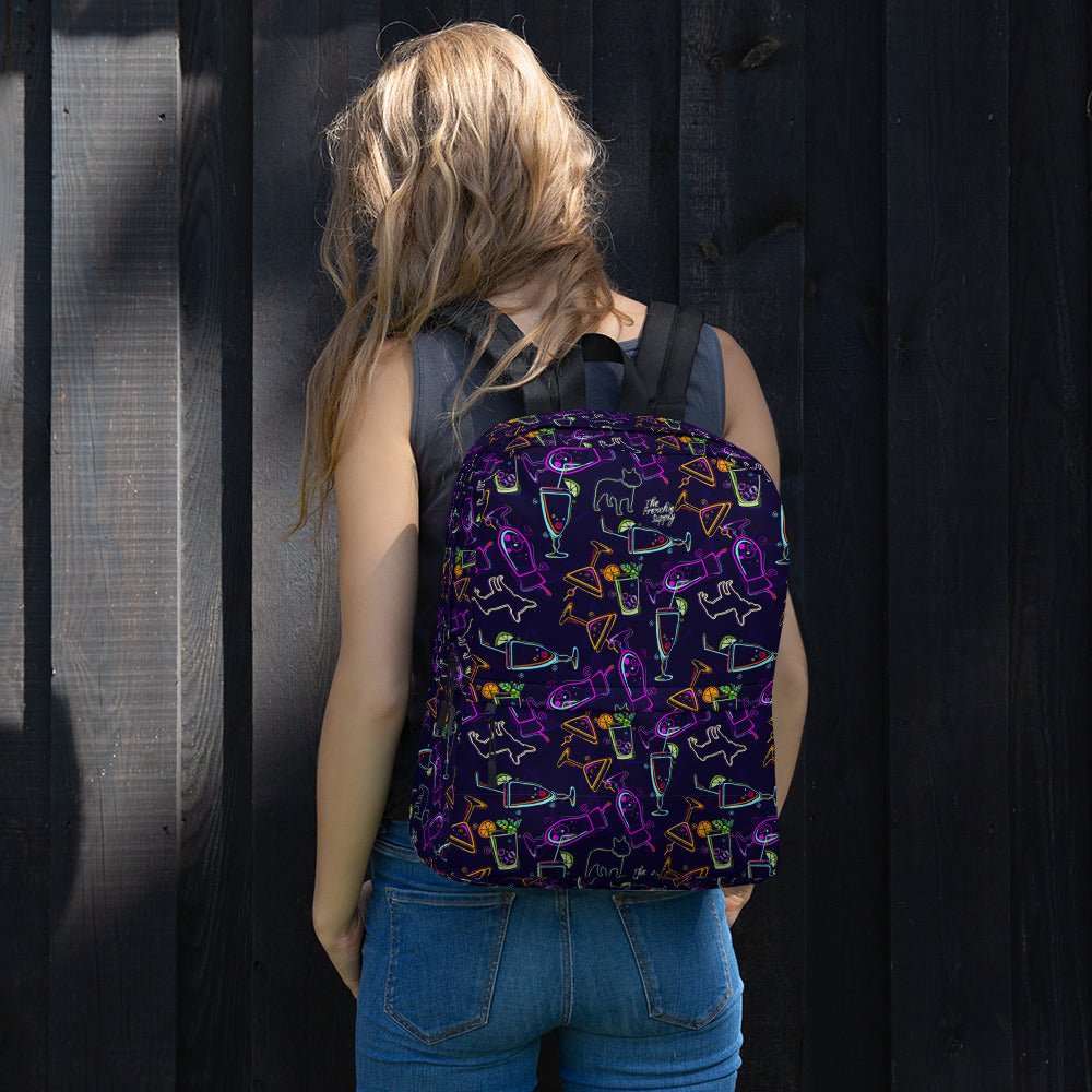 Frenchie Supply Backpack - Happy Hour