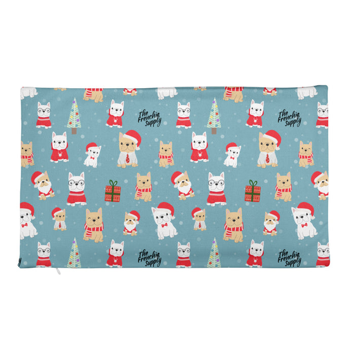 Holiday Frenchie Premium Pillow Case
