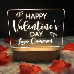 Personalized Photo Night Light Valentine's Day