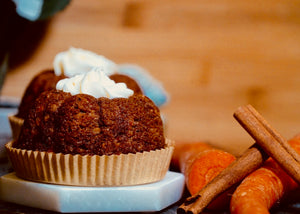 Carrot Bundt Cake with pineapple and vanilla cream cheese frosting
