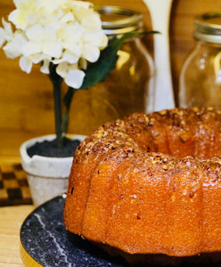 Italian butter rum bundt cake with pecans