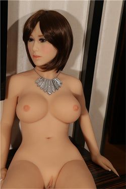 146cm(4ft9') Japanese Silicone Sex Dolls Anime Big Breast Sex Doll ,realistic Full Body Adult Love Doll Metal Skeleton,real Vagina Oral-Heidi