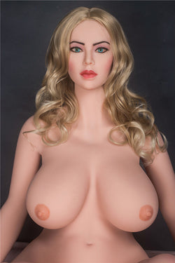 "160cm(5ft3"") H-cup Top Quality Real Silicone Sex Dolls Lifelike Big Breast Oral Love Doll -Katherine"