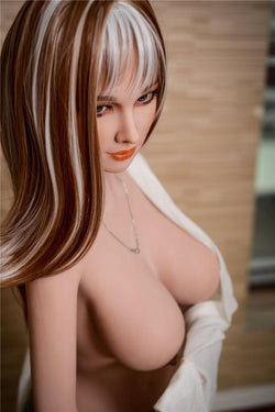 "157cm(5ft2"") E-cup IR08 elegant lady real TPE love doll rubber sex doll with beautiful breast cute round ass-Shelby"