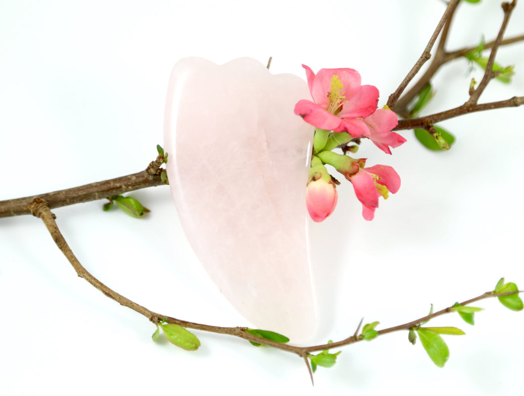 Gua Sha Tool--Rose Quartz Face Massage Tool
