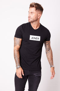 JENÉR Panel T-Shirt Black