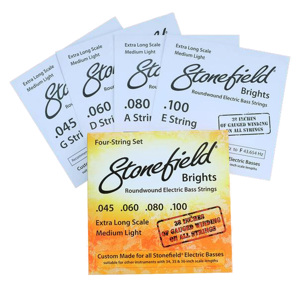 Stonefield Bass Guitar Stonefield Brights String Set 4 Four String Set