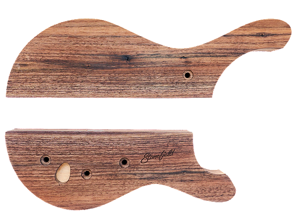 Stonefield Bass Guitar Body Set 2 with Walnut Top