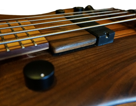 Stonefield Bass Guitar Funk Plate Walnut Player View