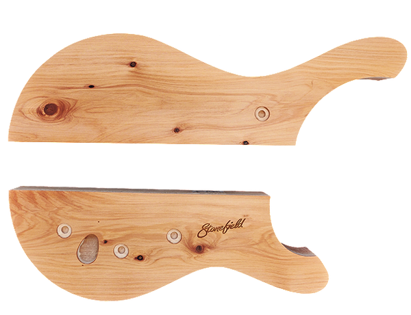 Stonefield Bass Guitar Body Set 10 with Cypress (macrocarpa) Top