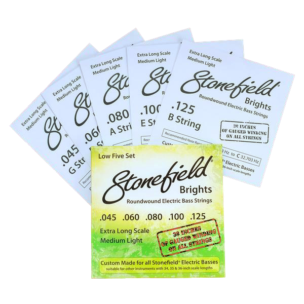 Stonefield Bass Guitar Stonefield Brights Bass String Set Low 5 Set