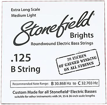 Stonefield Brights Bass Guitar String Single .125
