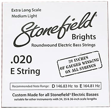 Stonefield Brights Bass Guitar String Single .020