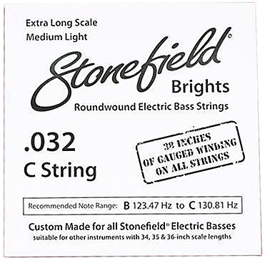 Stonefield Brights Bass Guitar String Single .032