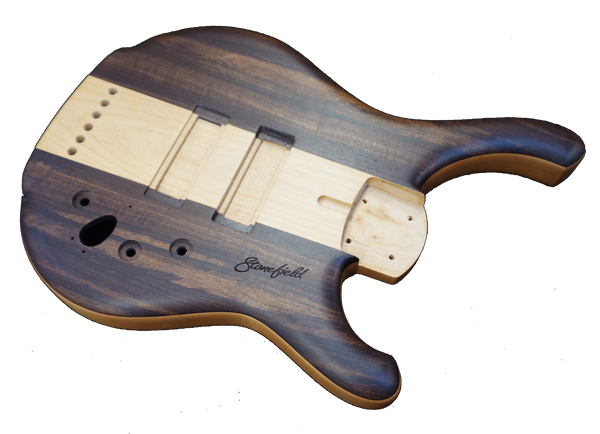 Stonefirled Bass Guitar Stinger Walnut Stinger Body