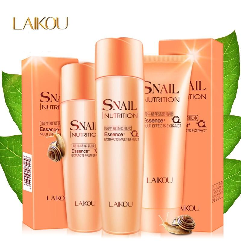 3 Piece Snail Facial Skin Care System