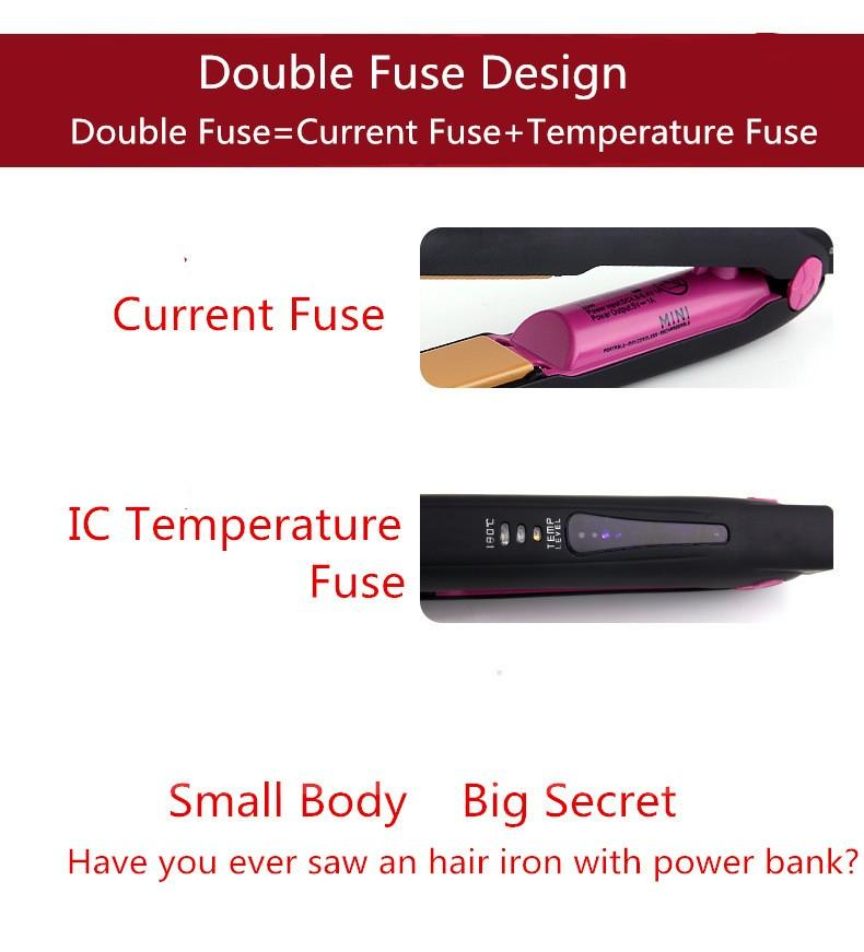 Professional USB Titanium Flat Iron Hair Straightener